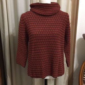 J. MARCO GALLERIES COWL NECK LONG SLEEVE SWEATER
